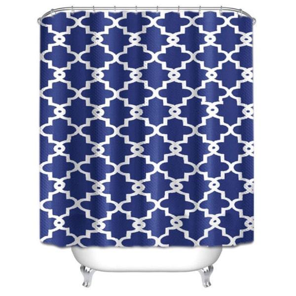 Badrum vattentätt duschdraperi dekorer med krokar hem 180*180cm
