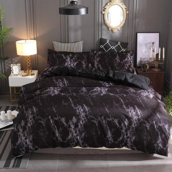 Sten textur mode påslakan där sätter sängöverdrag Coffee 150*150-EU Single