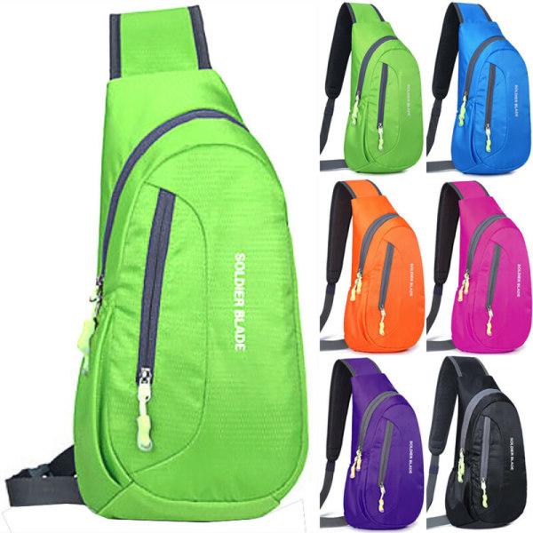 Waterproof Chest Bag Travel Sports Shoulder Sling Bag Outdoor Black