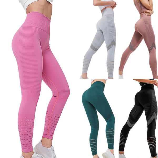 Kvinnor Hög midja Fitness Casual Gym Sport Leggings Yoga byxor black S