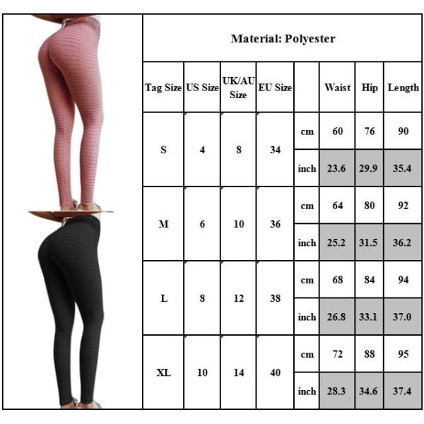Kvinnor Yoga Byxor Gym Leggings Sportkläder Gym Fitness Byxor Grey M