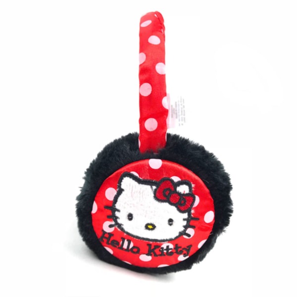 Hello Kitty Öronmuffar Svarta/röda