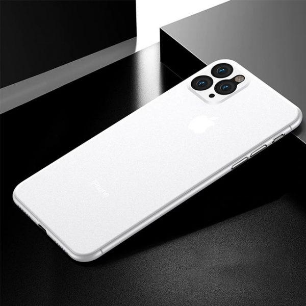 Elegant Ultra tunn skal iphone 12 mini -Flera färger Vit