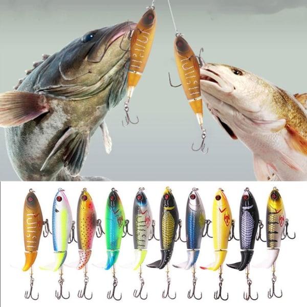 12 färger fiskelok 10,5 cm / 17 g konstgjord hård bete 3d ögon s
