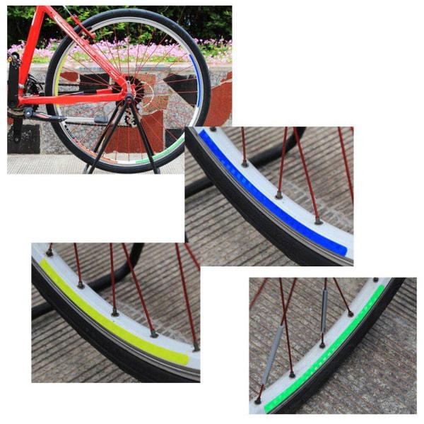 Reflekterande klistermärken Cykeldäckhjul Fluorescerande cykeldekal