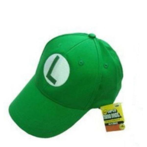 Keps Super Mario Luigi Grön