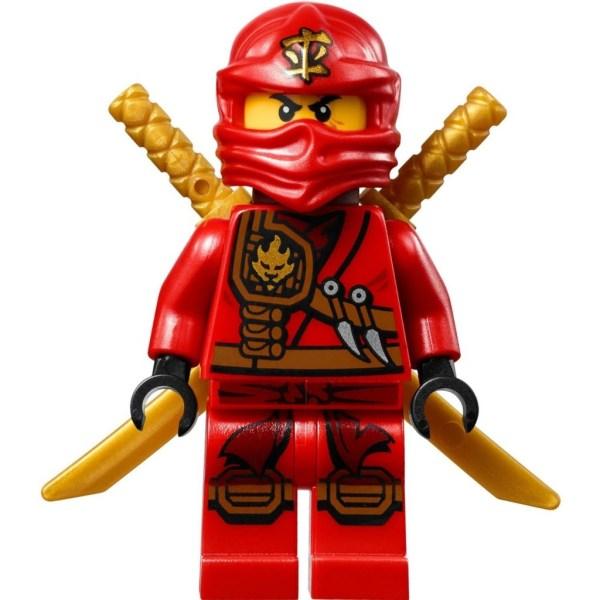 LEGO Ninjago - Kai Scabbard röd med två guldsvärd NJO3-6