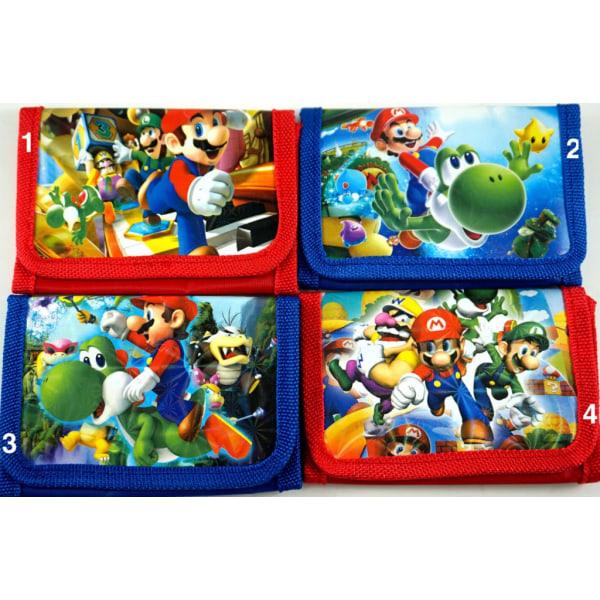 Super Mario Börs Wallet Plånbok Välj 4.Röd Mario Mitt