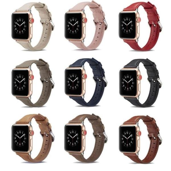 Apple Watch Smalt läderarmband 38/40mm - fler färger Beige