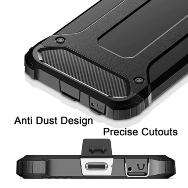 Armor Stöttåligt Hybrid Skal iPhone X/XS - Svart - fler färger Black