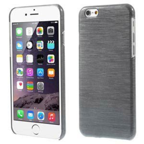 Blankt borstat stål hårdskal iPhone 6/6S - fler färger Svart
