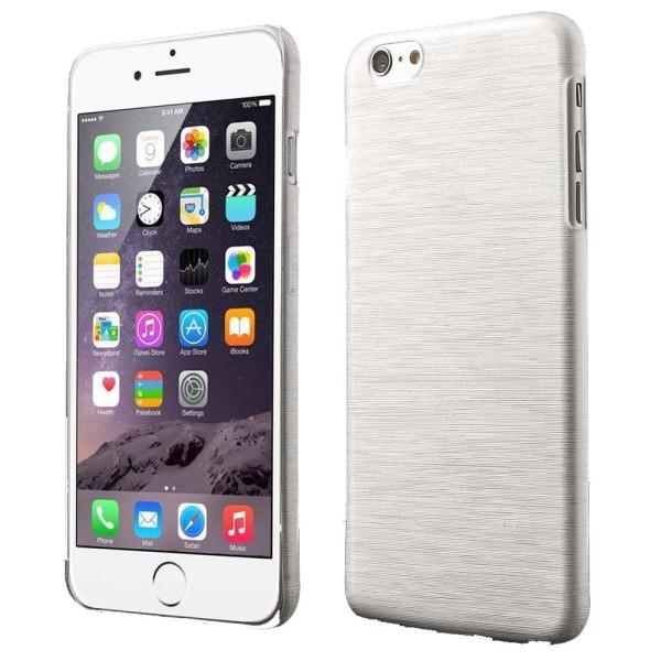 Blankt borstat stål hårdskal iPhone 6/6S - fler färger Vit