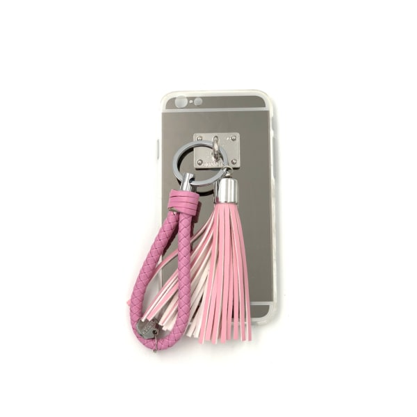 Bling Spegelskal med tofs & band iPhone 6/6S - fler färger Rosa