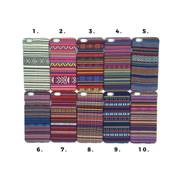 Broderi Skal iPhone 6/6S PLUS - flera färger MultiColor Motiv 1