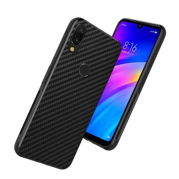 Carbon Fiber TPU-skal Xiaomi Redmi Note 7 - Svart - fler färger Black