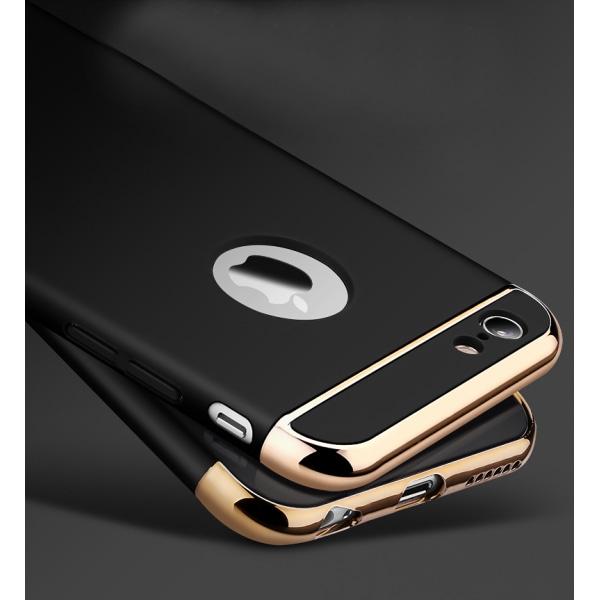 Design skal 3 i 1 guldkant till iPhone 6/6S PLUS - fler färger Silver