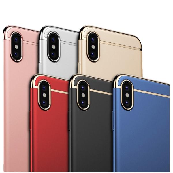 Design skal 3 i 1 guldkant till iPhone XS - fler färger Silver