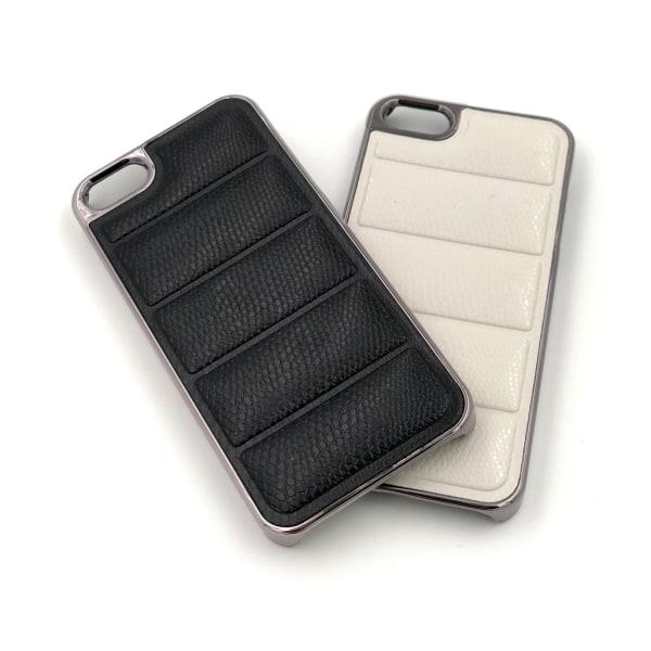 Exklusivt iPhone 5/5S/SE skal med ormskinn - fler färger Svart