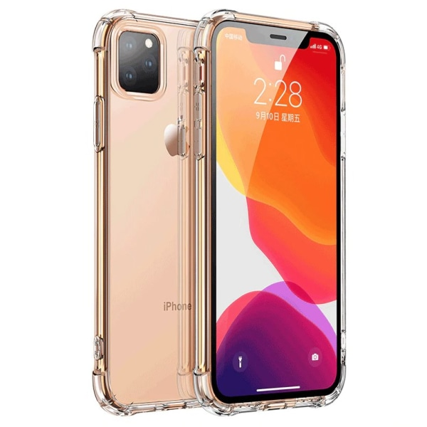 Extra strong silikonskal iPhone 11 Pro Max Transparent