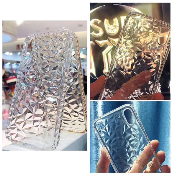 Extra tåligt 3D Diamant TPU iPhone 7/8 - fler färger Svart