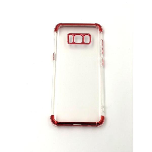 Extra tåligt design silikonskal | färgade kanter Samsung S8 - fl Röd