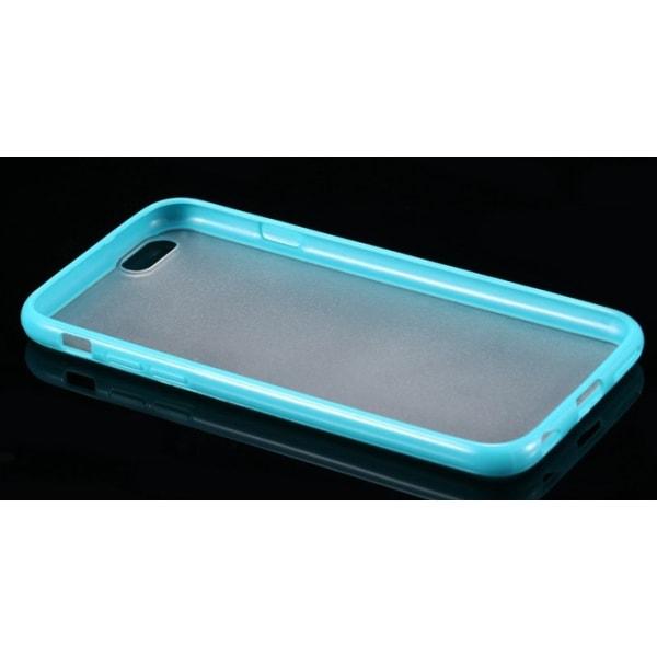 Frostat Transparent skal med färgad ram iPhone 5/5S/SE - fler fä Ljusblå