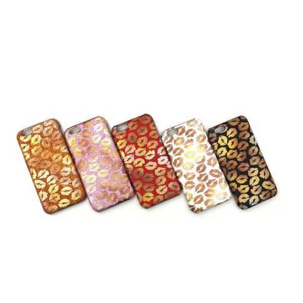 Glitter Kiss Lips iPhone 6/6S Skal - fler färger Vit