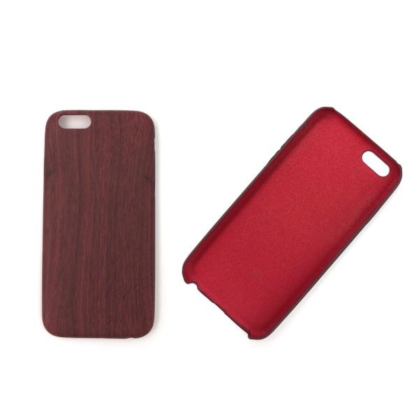 iPhone 6/6S skal med trä-mönster - Brun - fler färger Svart