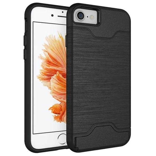 iPhone 8   Armor skal   Korthållare - fler färger Svart