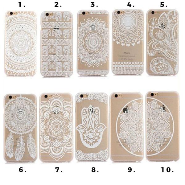Mandala Skal till iPhone 6/6S - Olika motiv MultiColor Motiv 10