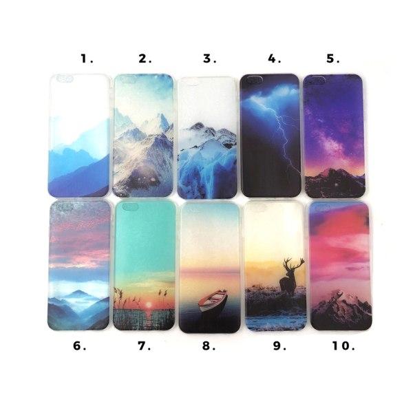 Motiv Silikon/TPU Skal till iPhone 6/6S - Olika motiv multifärg