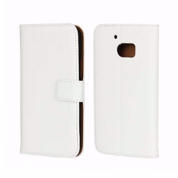 Plånboksfodral Äkta Skinn HTC 10 - fler färger Vit