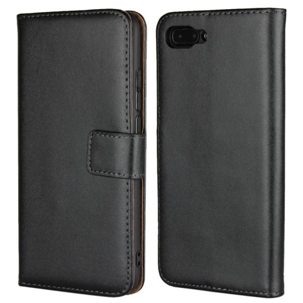 Plånboksfodral Äkta Skinn Huawei Honor 10 - fler färger Svart