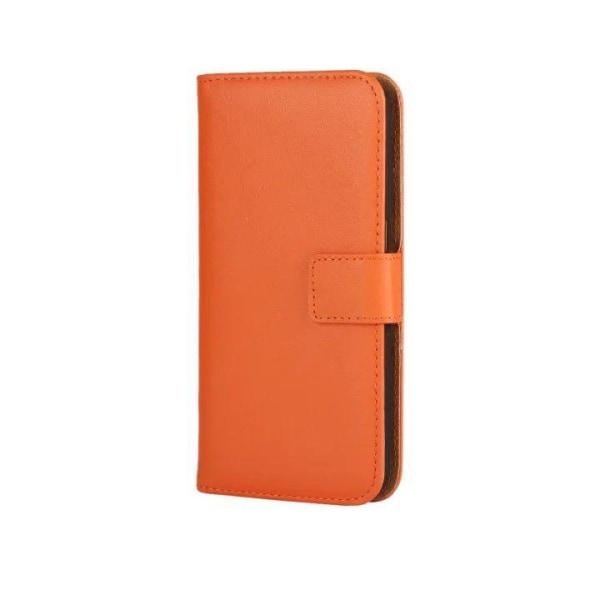 Plånboksfodral Äkta Skinn iPhone 11 Pro Max - fler färger Orange