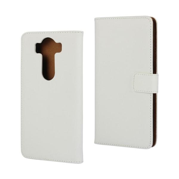 Plånboksfodral Äkta Skinn LG G4 - fler färger Vit