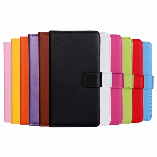 Plånboksfodral Äkta Skinn Moto Z - fler färger Rosa