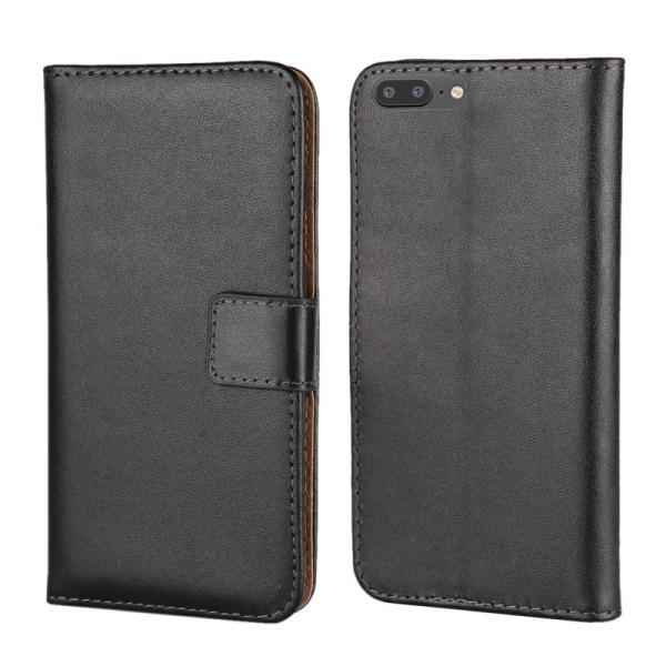 Plånboksfodral Äkta Skinn OnePlus 5 - fler färger Svart
