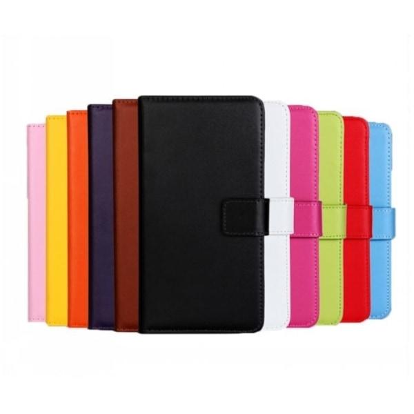 Plånboksfodral Äkta Skinn Samsung A50 - fler färger Svart
