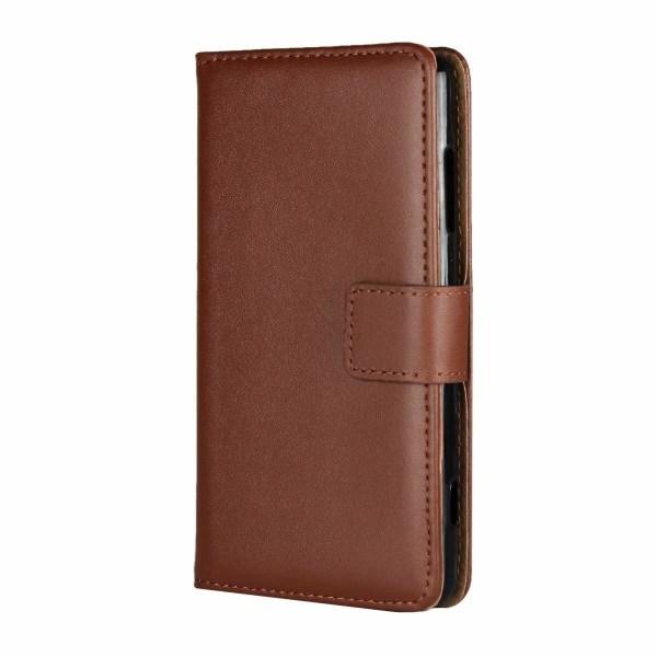 Plånboksfodral Äkta Skinn Samsung Note 10 - fler färger Brun