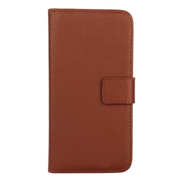 Plånboksfodral Äkta Skinn Samsung S10 - fler färger Brun