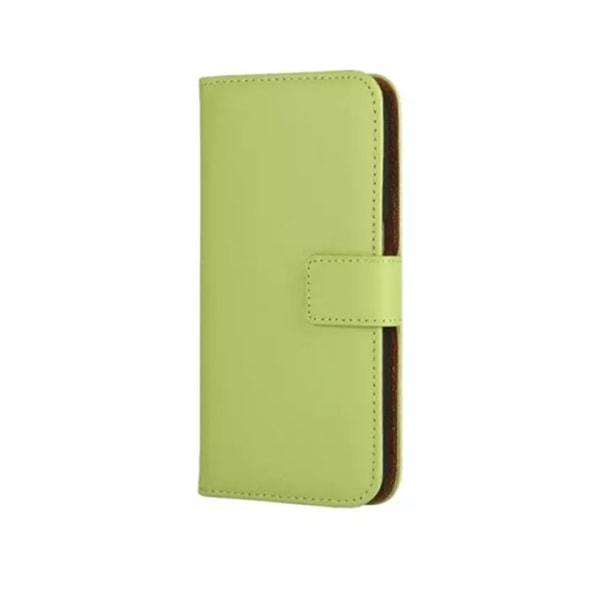 Plånboksfodral Äkta Skinn Samsung S6 Edge + (PLUS) - fler färger Vit