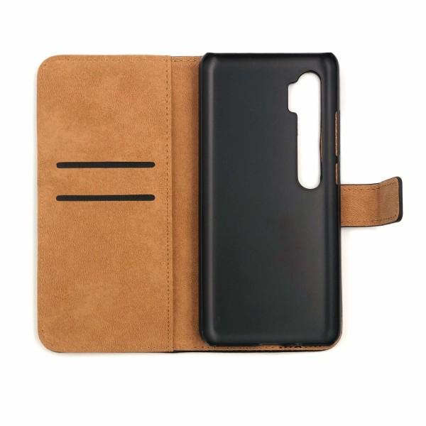 Plånboksfodral Äkta Skinn Xiaomi Mi Note 10/10 Pro - fler färger Brun