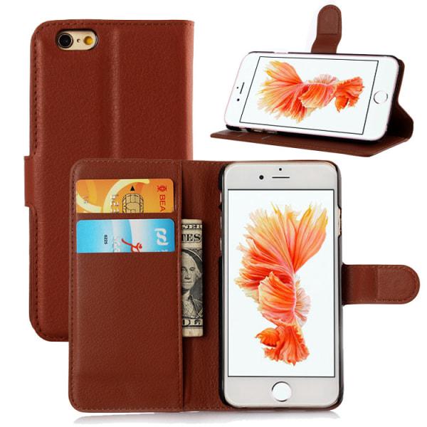 Plånboksfodral i PU-Läder Rundad Flärp till iPhone 6/6S - fler f Lila