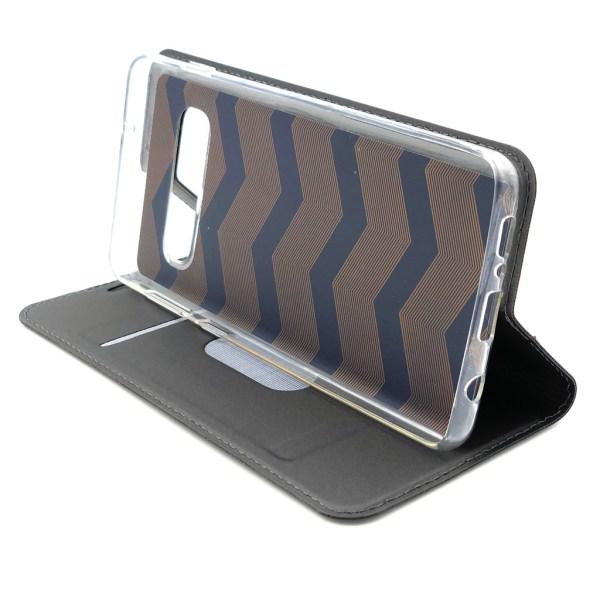 Plånboksfodral Ultratunn design Samsung S10 PLUS - fler färger Mörkgrå