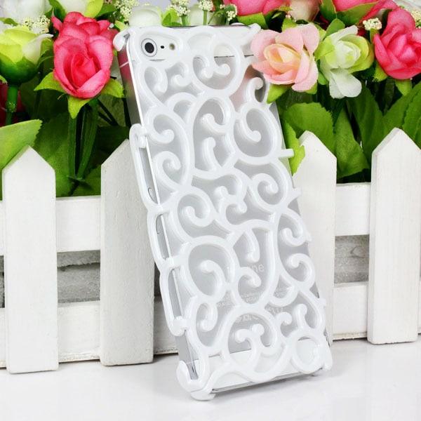 Ringlande Blommor Skal till iPhone 5/5S/SE - fler färger Vit
