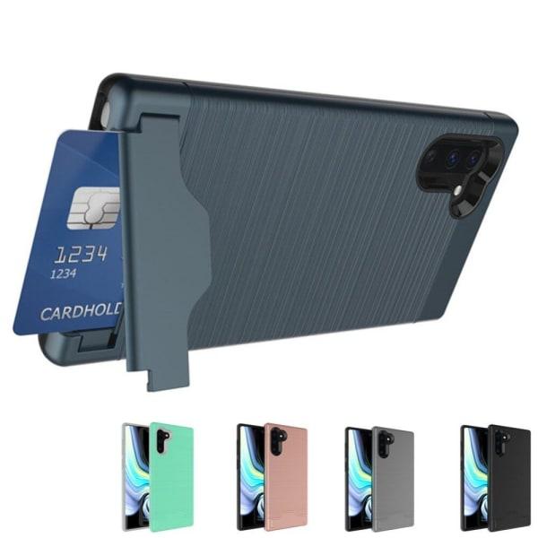 Samsung Note 10   Armor skal   Korthållare - fler färger Turkos