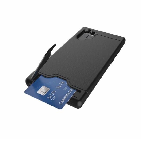 Samsung Note 10 PLUS | Armor skal | Korthållare - fler färger Silver