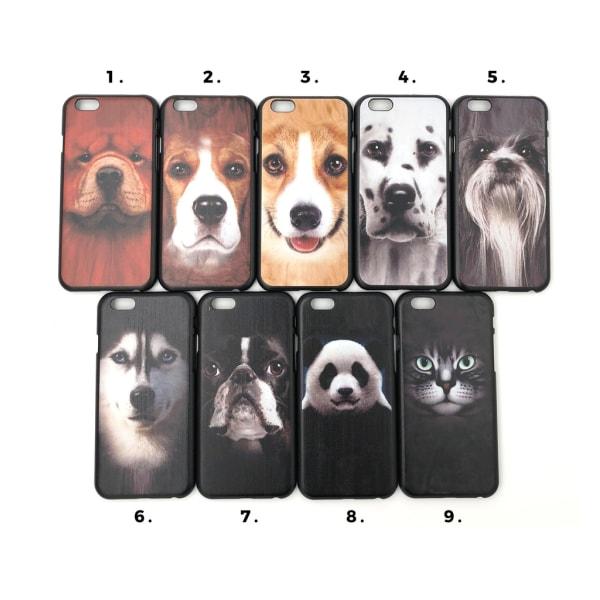 Skal med hund/djur motiv iPhone 6/6S MultiColor Motiv 7