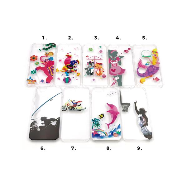 Skal med motiv iPhone 6/6S MultiColor Motiv 2