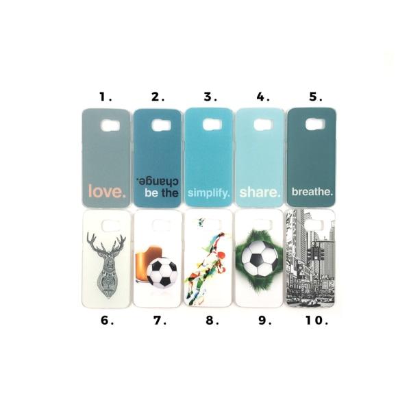 Skal med motiv Samsung S6 Edge MultiColor Motiv 10